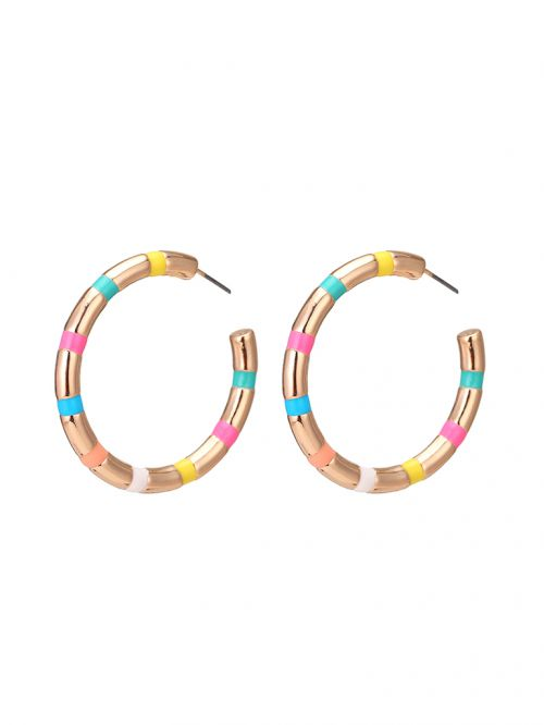 EARQ6542 עגילים light gold/colorfull