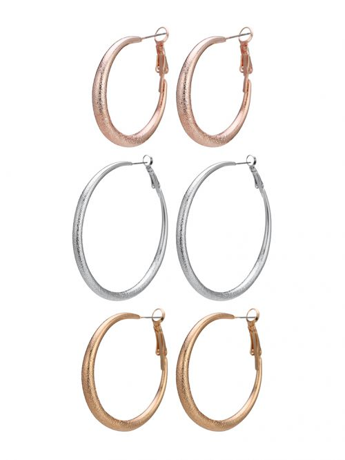 EAR24947 עגילים Rose Gold/light gold/rhodium